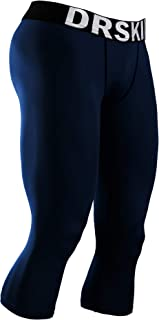 1~3 Pack Men's 3/4 Compression Tight Pants Base Under Layer Running Shorts Cool Dry (Packs of 1, 2, or 3 Deals)