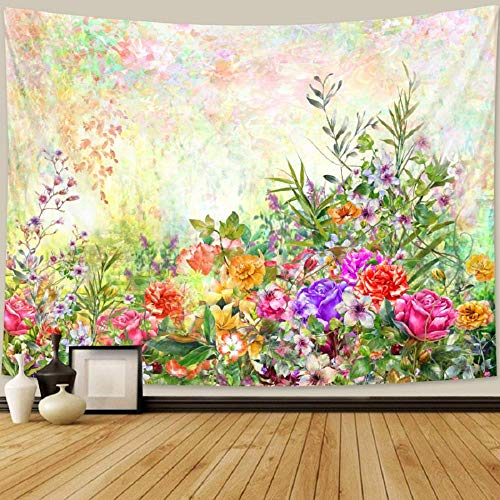 Hermosa planta flor tapiz dormitorio tapiz bohemio decoración del hogar escena colchón Mandala sofá manta 150cmX100cm