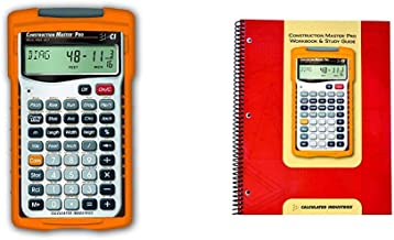 $74 » Calculated Industries 4065 Construction Master ProCalculator & 2140 Construction Master Pro Workbook and Study Guide | 4 C...