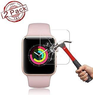 2 Pack Apple 38mm Watch Screen Protector (38mm Series 3/2/1 Compatible) BBInfinite Full Coverage Anti-Scratch/Anti-Fingerprint/High Definition Screen Protector Compatible Apple Watch 38 mm