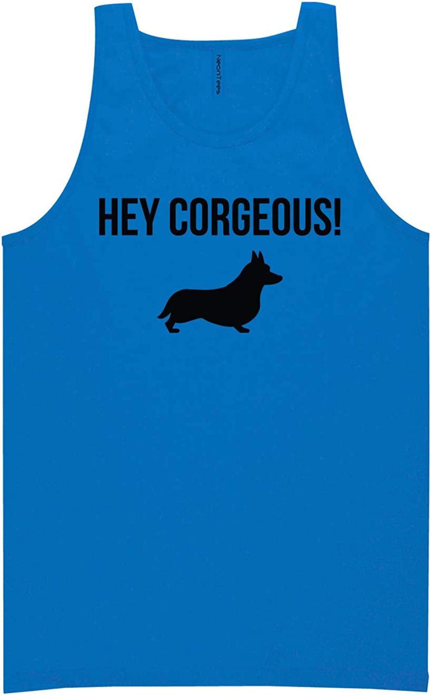 zerogravitee Hey Corgeous! Neon Blue Tank Top - XX-Large