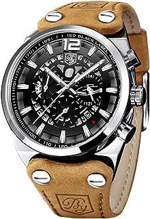 BENYAR - Wrist Watch for Men, Genuine Leather Strap Watches, Quartz Movement, Waterproof, Analog...