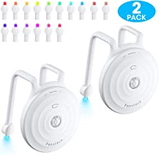 Toilet Light by Fansteck- Toilet Lights night Motion Detection with 16 Colors LED &UV Light - Toilet Bowl Light with Double Flexible Arms Fit Steadier for Bathroom (2 Pack)
