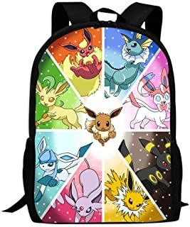 BEKAI E-evee Evolution Cartoon | School Bags Multiple Pockets Backpack for Kids/Youth/Boys/Girls