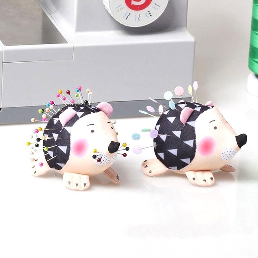 HONEYSEW Pin Cushion Patchwork Pin Holder 2PCS DIY Craft Hedgehog