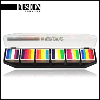 FUSION BODY ART Pro Quality Professional Spectrum Face Painting Butterfly Palette | Hypoallergenic Safe & Non-Toxic | Perfect for Full Face Designs and Cheek Art