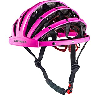 velneet Foldable Bicycle Helmet for Men and Women (Pink, 22.05~24.41-inch)