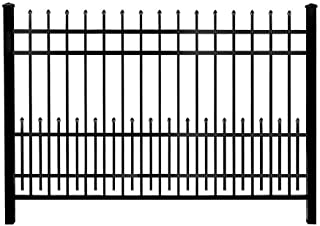 Mainstreet Aluminum Fence 3/4 in. x 2 ft. x 6 ft. Aluminum Black Puppy Guard Add-On Panel