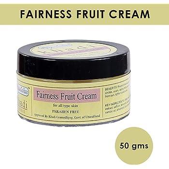 Khadi Rishikesh Herbal Fairness Fruit Cream,best to get glowing face naturally,even skin tone,brightens dull skin,men and women (50 GM)