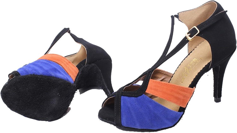 C & C Women's Tango Ballroom Latin Ankle Wrap Dance Sandals
