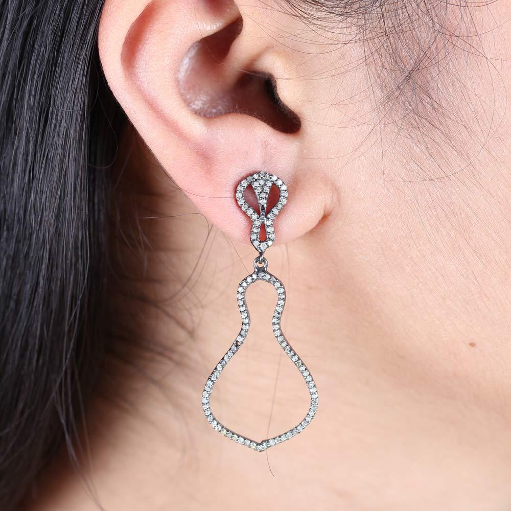 Natural 25% OFF 0.89 Ct. Pave Diamond Dangle Earrings Designer Department store Soli Drop