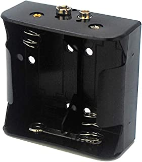 5x D Type x 2 Battery Holder Black Battery Snap Connector 68 x 68 x 30mm E3313