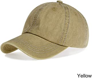 MKJNBH Adjustable Outdoor Sports Summer Caps Summer Solid Casual Adults Fashion Washed Durable Baseball Hat Unisex