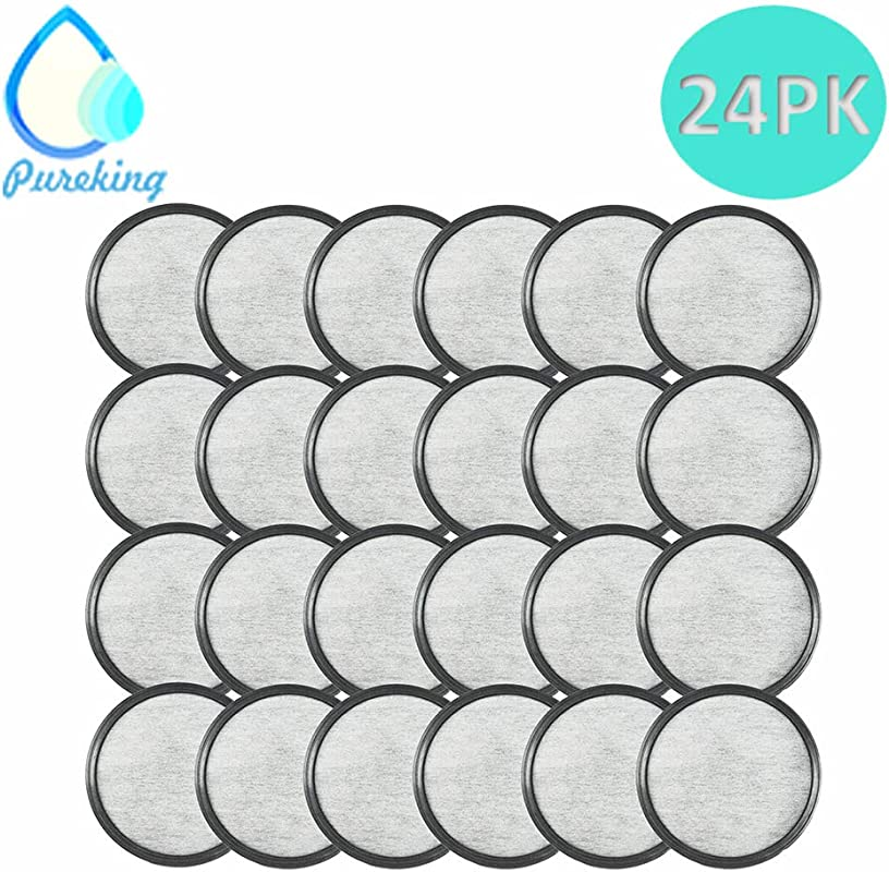 Mr Coffee Filter Replacement Activated Charcoal Coffee Filters For Mr Coffee Water Filter Cartridge Activated Charcoal Water Filter Disk For All Mr Coffee Maker Water Cartridge 24Pack