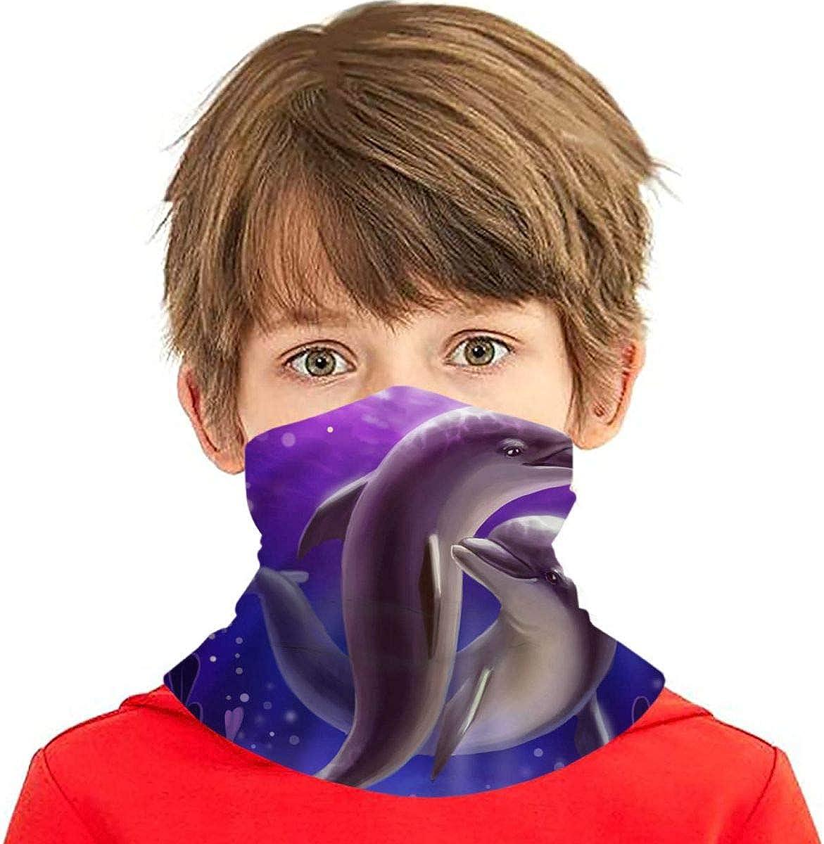 Dujiea Kids New 5 ☆ very popular Shipping Free Bandanas Face Mask 3d Pro Dust UV Dolphin Sun Ocean