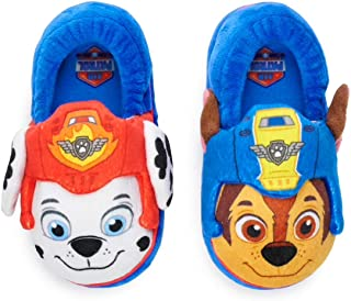 Nickelodeon Paw Patrol Chase & Marshall Toddler Boys Slippers, Large (9-10) Blue