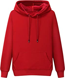 Men's Cotton Pullover Hoodie Jersey Front Pocket Thermal Warm Hooded Sweatshirts