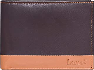Laveri Bifold Wallet for Men - Leather, Brown and Tan