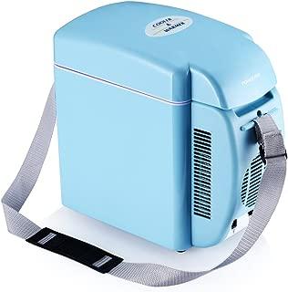 Poweradd ミニ冷温庫 室内車載両用 季節を問わず 保冷保温両用 冷蔵温度:環境温度以下約15℃ 温蔵温度:50±10℃ AC-DC電源変換アダプターが付き 小型7L(ブルー)【2年間安心保障】