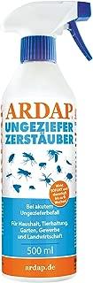 ARDAP Zerstäuber - Wirkungsvolles Insektizid gegen Fliegen, Schädlinge oder Lästlinge - Pumpspray für Zuhause oder in unmittelbarer Nähe von Tieren