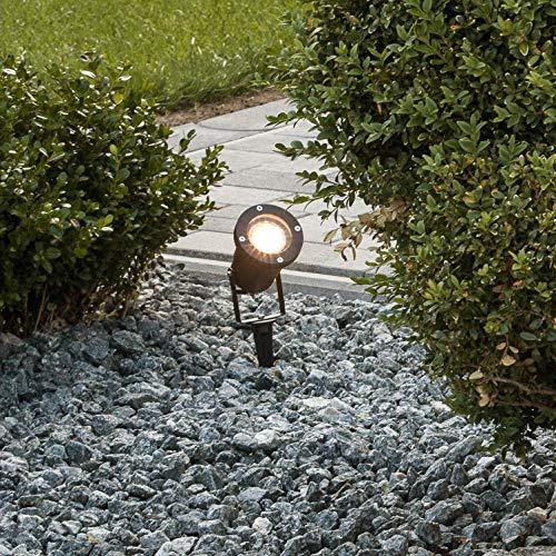 Brilliant Janko Außenleuchtenspieß, GU10 LED, 1x 3 W, 240lm, 3000K, Aluminium Glas, schwarz G96232/06
