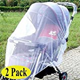 ThreeH Baby Mosquito Net for Strollers Car Seats Cradles Universal Size Insect Netting BX07,Black