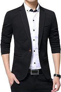 Allthemen Blazer da Uomo Slim Fit con Un Bottone Suit Jacket Giacca Elegante Formale for Wedding Business Evening da Lavoro