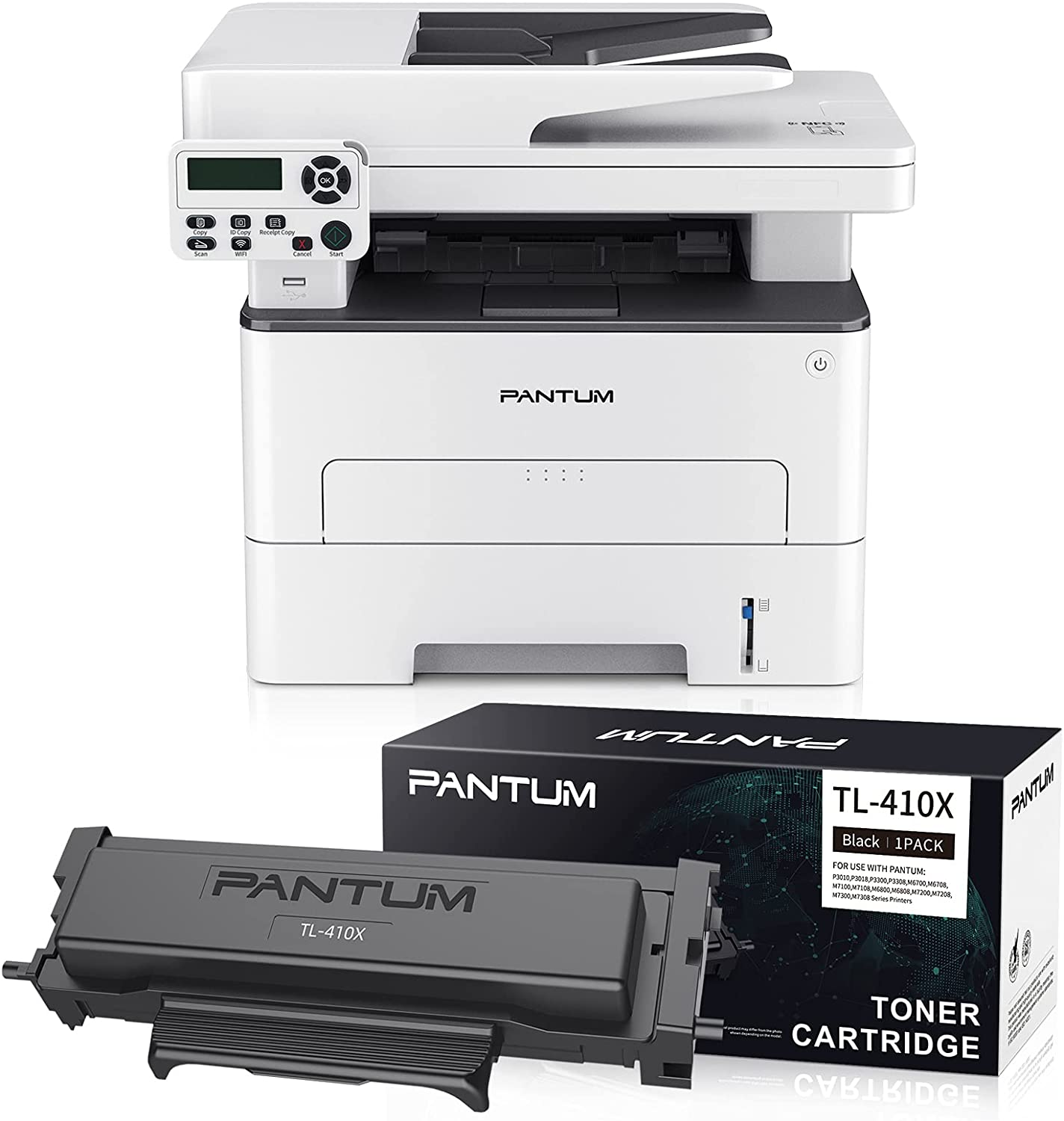 Pantum M7102DW Lasdr Printer Scanner Copier 3 in 1, Wireless and Auto Duplex Printing, with 1 Pack TL-410X 6000 Pages Yield Toner Cartridge