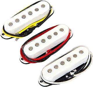 Single Coil Pickup Neck Middle Bridge Set Alnico V for Electric Guitar White