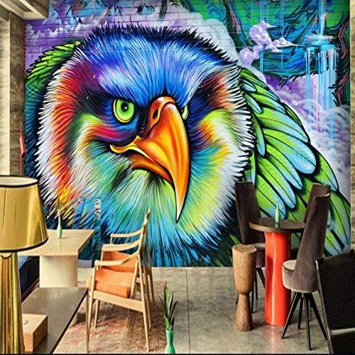 GUDOJK muurschildering HD 3D geverfd uilen-gotische graffiti-televisiestangen-Café muurschildering-behang behang voor muren 3D 100x150cm
