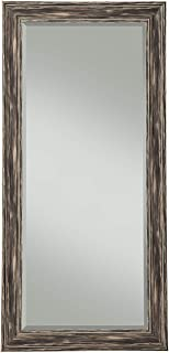 Benjara Benzara BM178072 Full Length Leaner Mirror with Polystyrene Frame, Black,