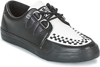 Black & White Leather VLK Creeper Sneaker EU44 / UKM10