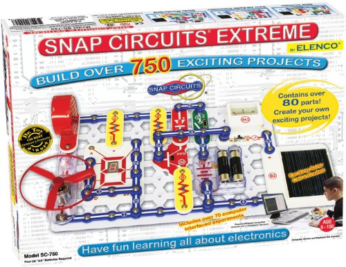 Snap Circuits Extreme SC750 Electronics Exploration Kit | Over 750 STEM Projects | 4Color Project Manual | 80 Snap Modules | Unlimited Fun