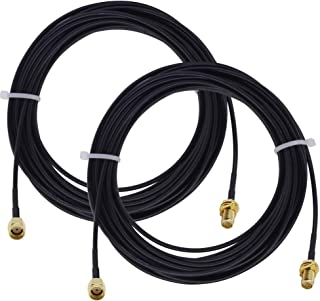 ALLiSHOP WiFi Extension Cable Security Camera Antenna Extension Cable 30 Feet RP-SMA Male to RP-SMA Female Bulkhead RG174 ...
