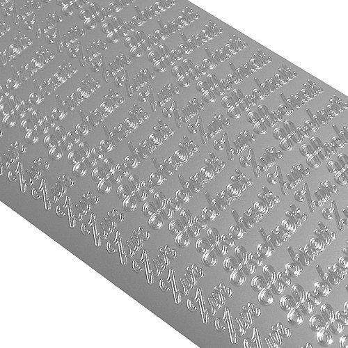 Starform sticker tekst DE: voor bruiloft (10 stuks) - zilver - 0403.002-10X23 cm