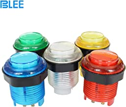BLEE 5 x 28MM LED Illuminated Arcade Push Button with Build-in Microswitch for Arcade Machine Games DIY Kit Parts