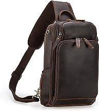 Heren schoudertas borstzak, Dames Mens Anti-diefstal Sling Borst Tas Lederen Crossbody Schouder Rugzak Borst Pack Daypack ...