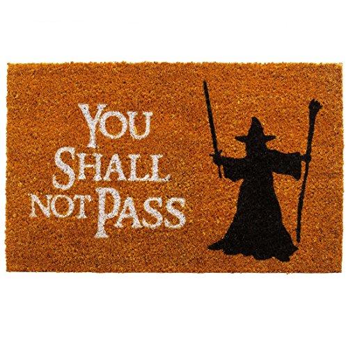 getDigital You Shall not Pass Fußmatte-Türmatte mit berühmter Fantasy-Szene, Kokosfaser, Großartiges Geschenke Für Film-fans