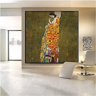 IL BACIO cm 150x50 arredamento arte stampa tela KLIMT Quadro Moderno 3 pz