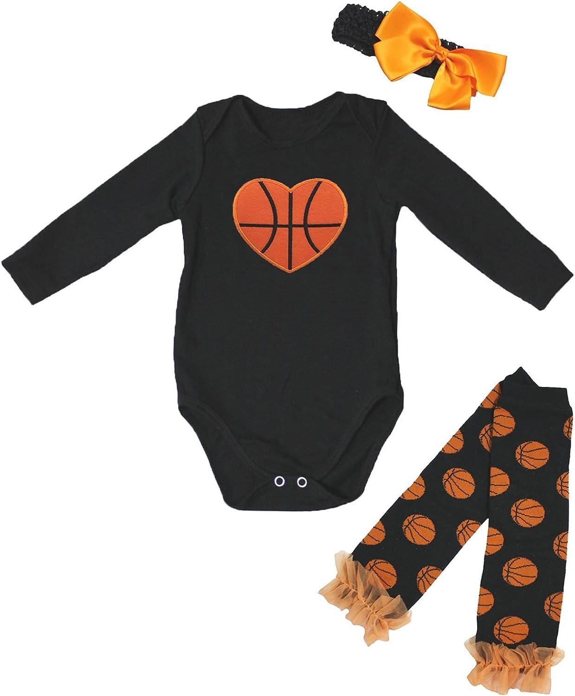 Petitebella Basketball Heart Black L Leg Genuine Free Shipping Warmer s Ranking TOP5 Bodysuit Baby