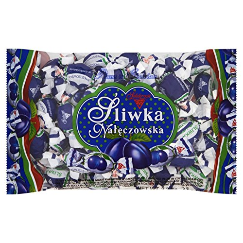Solidarnosc Candied Plums in Dark Chocolate Sliwka Naleczowska (2.2 lbs)