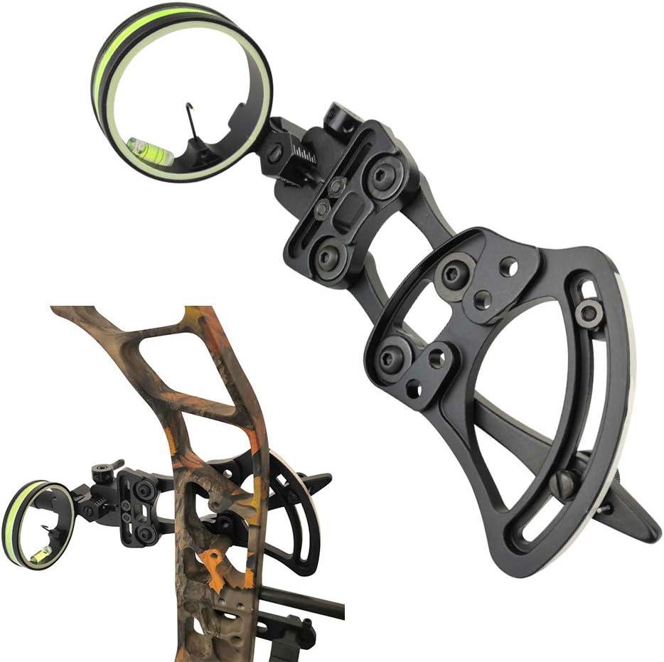 ZSHJGJR Brand Cheap Sale Venue Compound Popular popular Bow Sight 1 Pin Archery Optical Fiber Bo 0.019