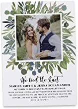 We Tied the Knot Announcement, Just Married, Elopement Wedding Announcement Flat Cards, Marriage Announcement, Custom, Personalized - Set of 20