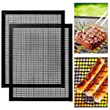 Fanuk BBQ Grill Mat 2 Pack Non-stick Reusable Barbecue Grill & Baking Mesh