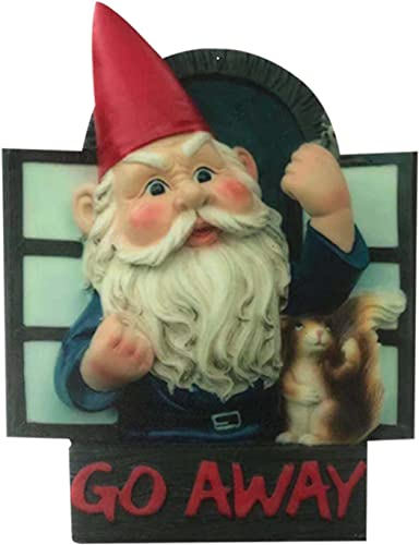 new arrival RiamxwR Front Door lowest Hanging Decor Sign Miniature Welcome Wreath Gnome Sculpture- Go Away - Gnome Sign Decoration Seasonal Window Door Hanger Yard Art Decoration Housewarming lowest Gift, Mini Size 8x6 outlet online sale