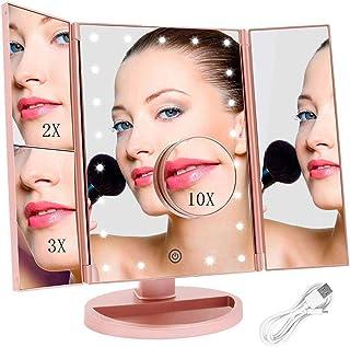 Espejo Maquillaje con Luz, Espejo de Mesa FASCINATE Trí