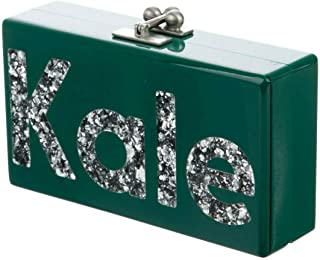 Edie Parker Handcrafted Jean KALE Glittered Acrylic Clutch (Just Add Dressing)