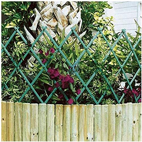 Suinga CELOSIA PVC verde 100 x 200 cm para jardín. Seto artificial extensible.