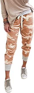 KIRUNDO 2021 Women's Jogger Long Pants Drawstring Elastic Waist Sweatpants Camouflage Lounge with Pockets(S-XL)