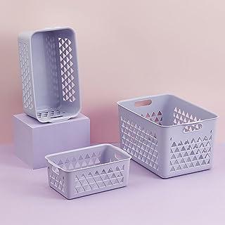 CNYG Paniers de rangement en plastique de style nordique pour articles divers, boîtes de rangement modernes, boîtes de ran...